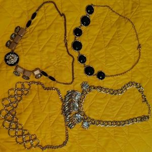 Gold statement necklace bundle